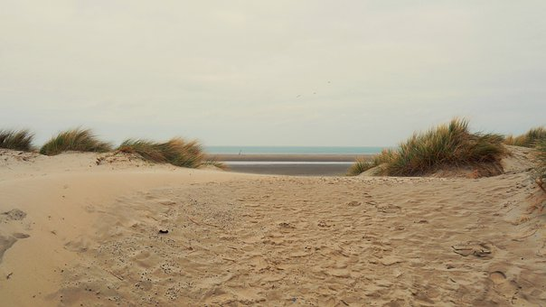 Netherlands, Beach, Clouds, Dune, Vacations, Nature