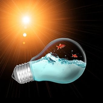 Lamp, Orange Light, Bulb, Prison
