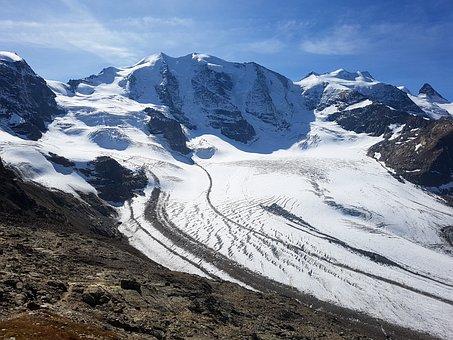 Bernina, Pers Glacier, Switzerland, Engadin, Diavolezza