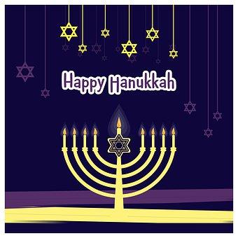 Happy Hanukkah, Shabbat Shalom, Israel Symbol