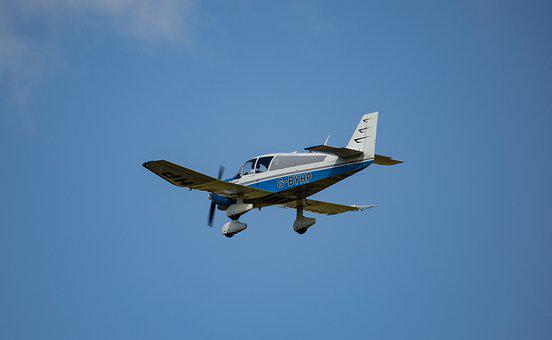 Small Plane Flying, Small Plane, Airplane, Solo Plane