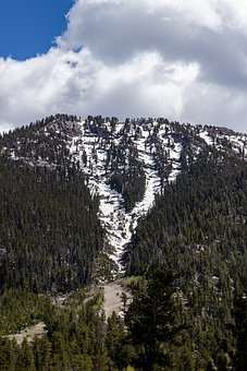 Mount Charleston, Snow, Clouds, Mountain, Winter