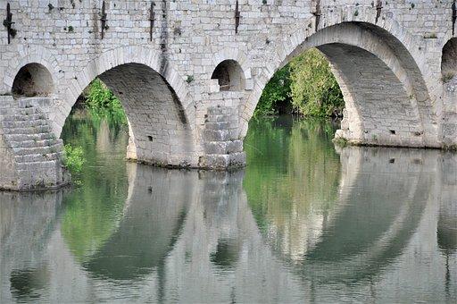 Bridge, Pierre, Stone Bridge, River, Architecture