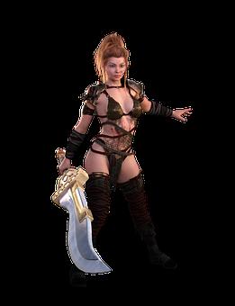 Woman, Amazone, Warrior, Sword, Mystical, Fantasy