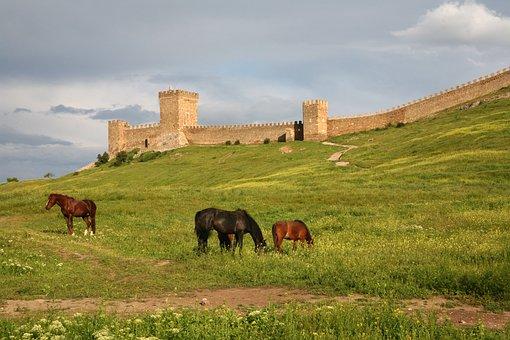 Crimea, Sudak And Novy Svet, Fortress, Genoa, Tower