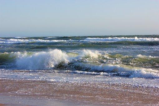 Wave, Ocean, Sea, Coast, California Coastline, Oxnard
