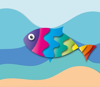 Fish, Sea, Summer, Colorful Rainbow, Water, Underwater