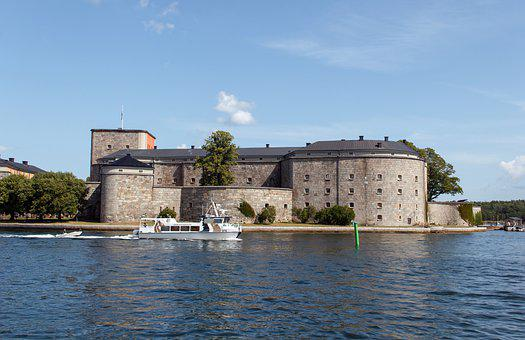 Fortress, Vaxholm, Stockholm, Sweden, City, Port