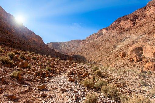 Canyon, Gorge, Todra, Mountains, Morocco, Trail