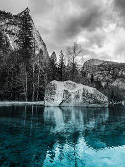 Lake, Roche, Nature, Landscape, Water