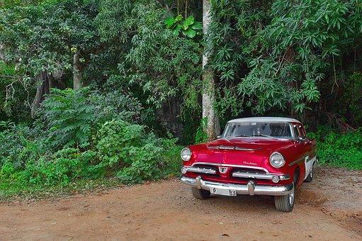 Car, Cuba, Old, Retro, American, Cuban, Vinales