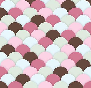 Scallops, Background, Wallpaper, Texture, Square