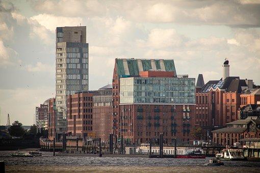 Hamburg, Sea, Elbe, Port, Water, River, Ship
