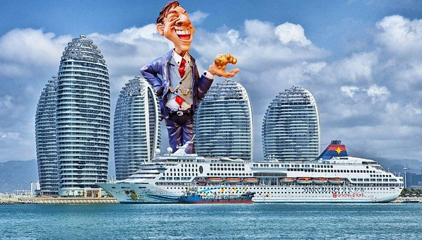 Businessman, Empire, Wealth, Giant, Funny, Cruise Ship