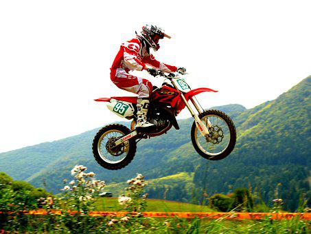 Motocross, Motorcycle, Rider, Jumps, Competition, Races