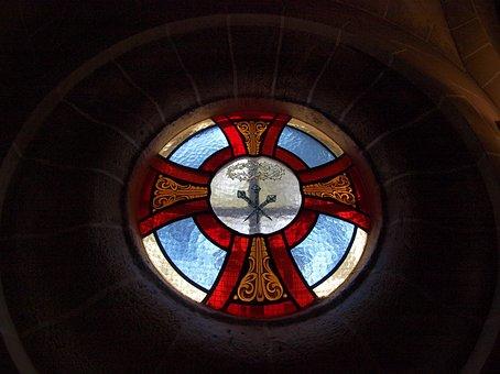 Mallorca, Spain, Glass, Colorful, Church, Religion