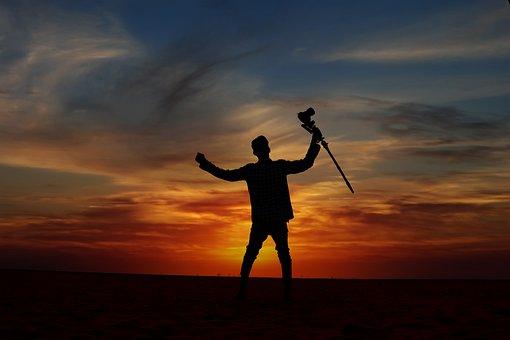Sunset, Nature, Landscape, Sky, Sun, Beach, Evening