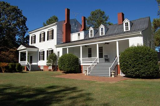 Family Home, American Style, Antebellum, Wooden House
