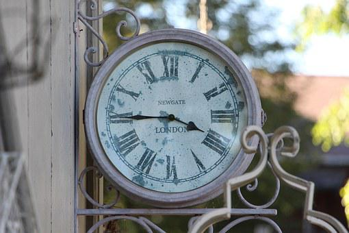 Antique Clock, England, Country House Style, Wall Clock