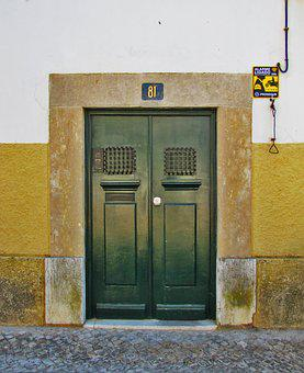 Doors, House, Architecture, City, Style