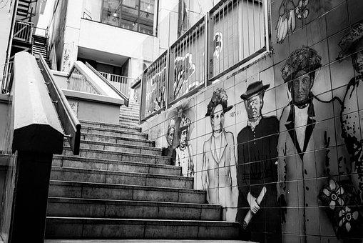 Stairs, Urban, Graffiti, Paint, Art, City, Lifestyle