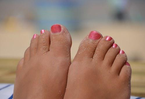 Feet, Beautiful Woman, Carbis Bay, St Ives, Cornwall