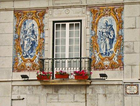 Balcony, House, Ceramics, Tile, Azulezhu, Azulejo