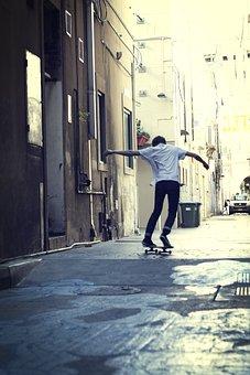 Skateboard, City, Sydney, Skateboarder, Young, Extreme