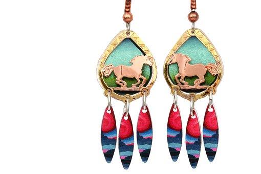 Horses, Jewelry, Earrings, Fashion, Decoration, Jewel