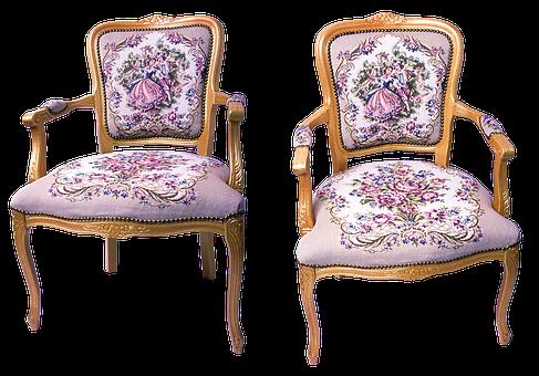 Armchair, Chair, Furniture, Sofa, Seat, Empire, Baroque