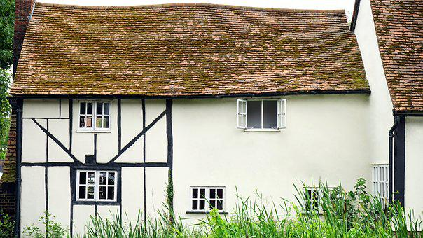 Cottage, House, Home, Estate, Exterior, Building, Front