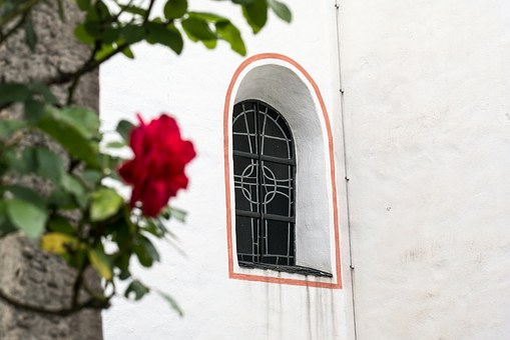 Window, Church, Church Window, Rhaeto Romanic, Facade