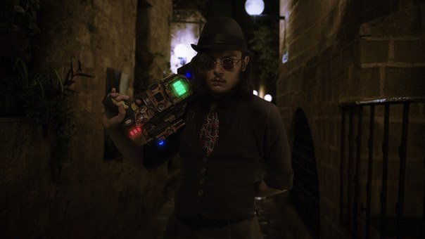 Steampunk, Punk, Night, Scifi, Cyberpunk, Fancy, Man
