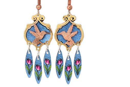 Hummingbird, Jewelry, Earrings, Fashion, Decoration