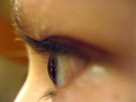 Eyeball, Close-up, Girl, Eye, Face, Eyebrow, Look