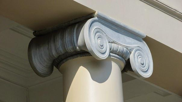 Pillar, Ionic, Classic, Architecture, Greek, Building