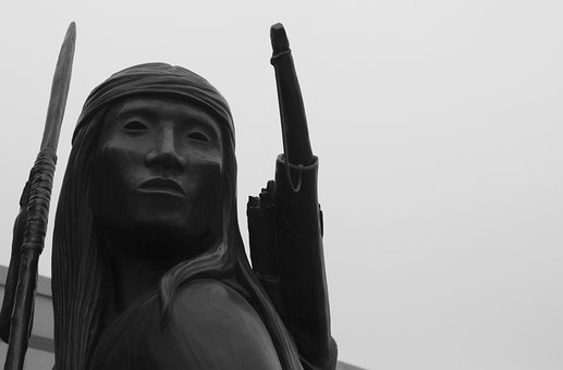Indian, Warrior, Sculpture, Statue, Chief, Native