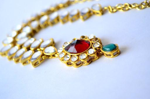 Necklace, Indian, Jewelry, Gold, Luxury, Fashion
