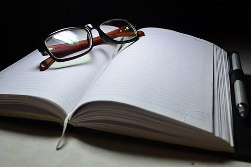 Notebook, Glasses, Lenses, Focus, Pen, Negotiations
