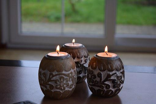 Candles, Slightly, Fire, Style, Living Arrangement