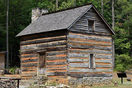 Old, Rustic, Log Cabin, Wood, Wooden, Historic, Retro