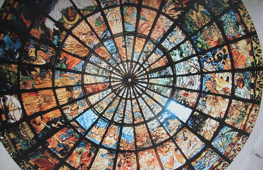 Art, Ceiling, Glass, Style, Pattern