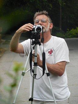Photographer, Camera, Adjusting, Photo, Photography