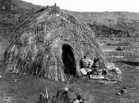 Wigwam, Indians, Apache, Residential Structure, Hats