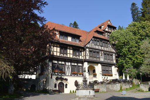 Castle, Romania, Sinaia, German Style, Architecture