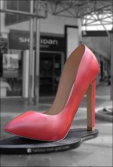 High Heel, Shoe, Red, Footwear, Fashion, Heel, Woman