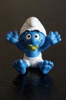 Smurf, Baby, Smurf Figure, Figure, Comic