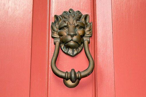 Door Knocker, Lion, South, Charleston, Door, Knocker