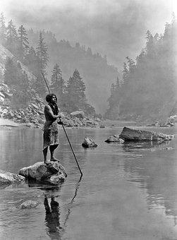 Spear Fishing, Indians, Spear, Sugar Bowl, Fischer