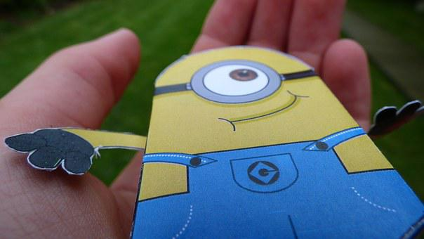 Minion, Style, Grass, Paper, Character